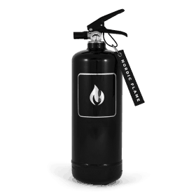 schwarzer Feuerlöscher von Nordic Flame