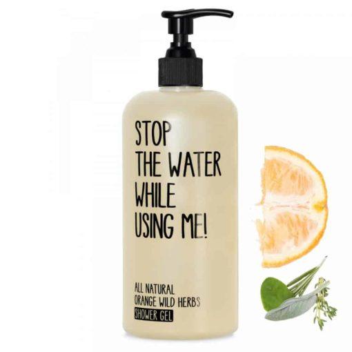 Shower Gel Orange Wild Herbs von Stop the water while using me