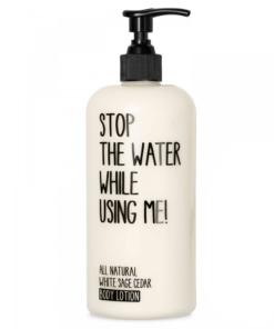 Body Lotion White Sage Cedar von Stop the water while using me