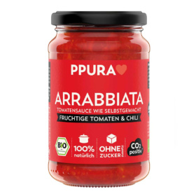 Arrabbiata Tomatensauce mit fruchtiger Tomate und Chili von Ppura