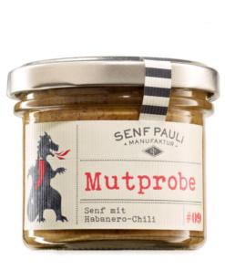 Mutprobe, Senf mit Habanero Chili von Senf Pauli