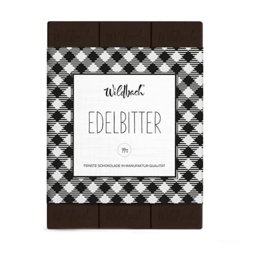 Edelbitter Schokolade von Wildbach