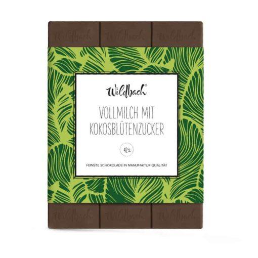 Vollmilchschokolade mit Kokosblütenzucker von Wildbach