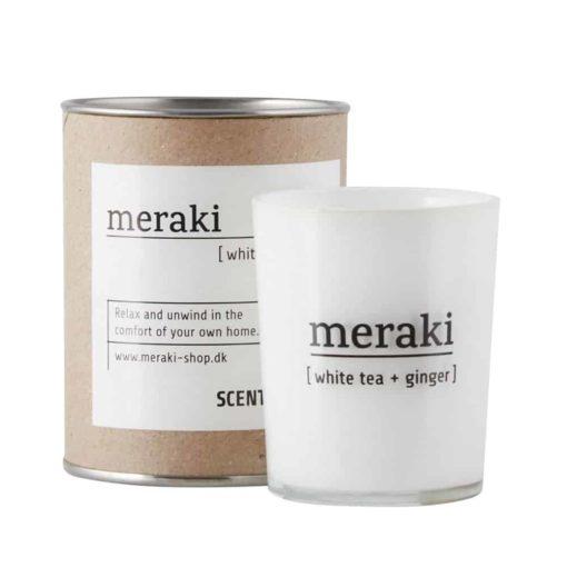 Duftkerze white tea ginger von Meraki