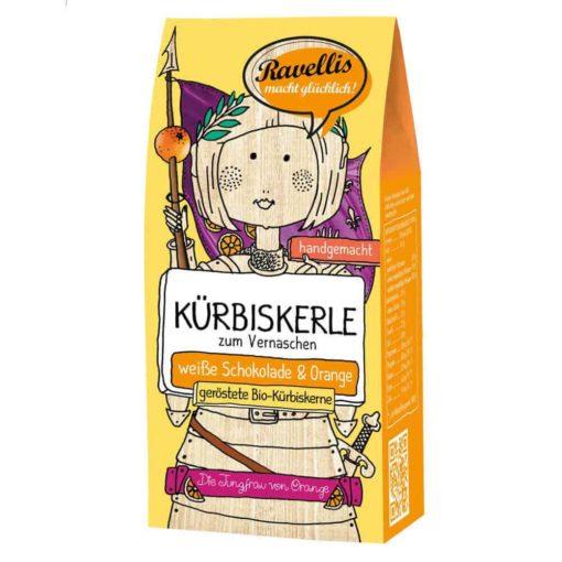 geröstete Kürbiskerne mit weisser Schokolade und Orange von Ravellis