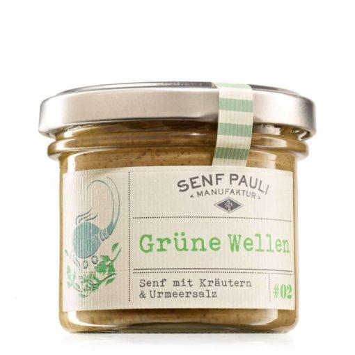 Grüne Welle Senf mit Kräutern und Urmeersalz von Senf Pauli