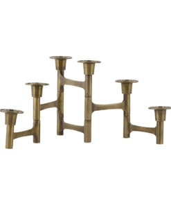 Candle stand w. 6 cups, Move, Brass