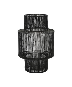 Lantern, Tabia, Black, Incl. glass cup