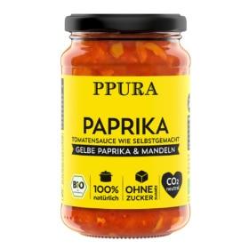 Paprika Tomatensauce mit gelber Paprika und Mandeln von Ppura